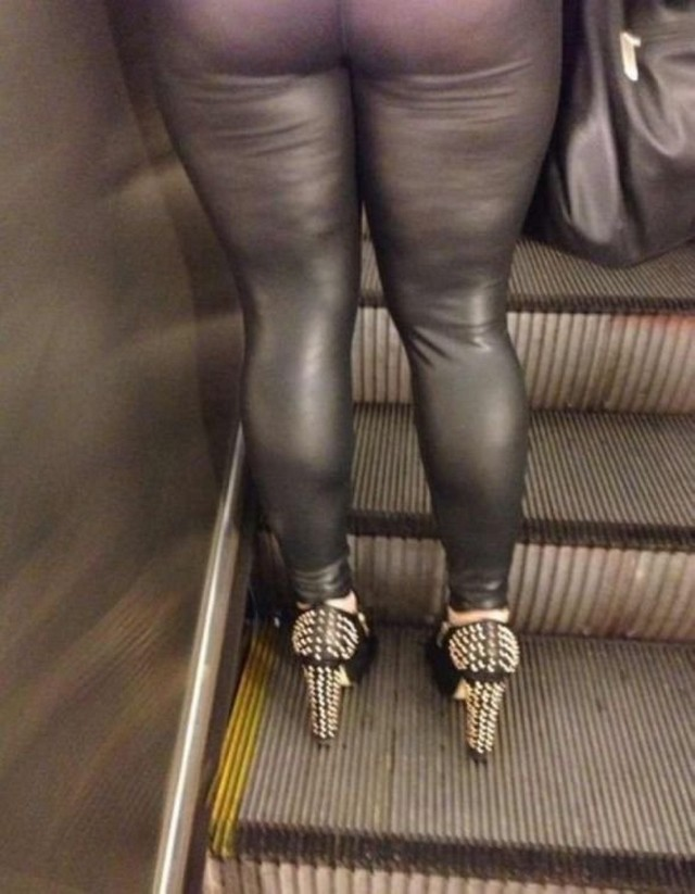 Big Ass Babe in Black Leather Pants Part 2 - YouTube