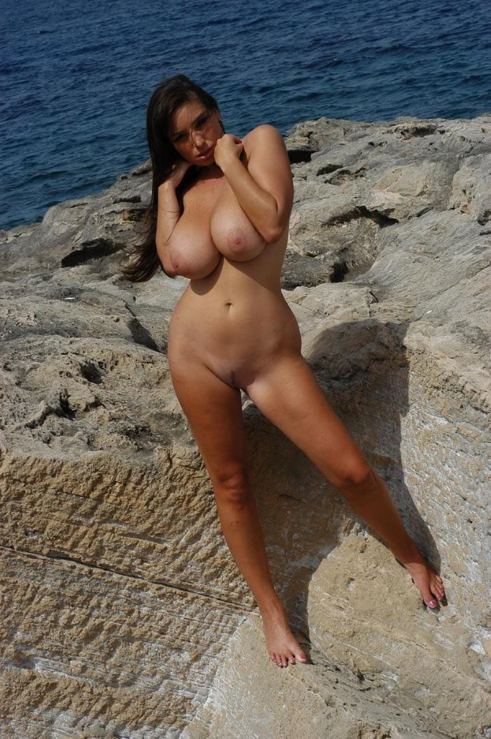 Big natural tits on nude beaches be. can